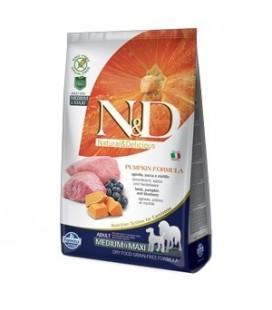 Farmina N & D Grain Free Adult Medium e Maxi agnello e zucca e mirtillo kg.2.5