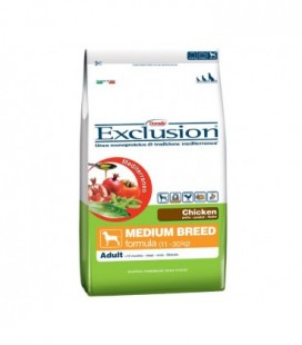 Exclusion Mediterraneo Adult Medium con pollo kg.3