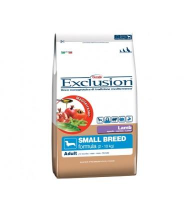 Exclusion Mediterraneo Adult Small con agnello kg.2