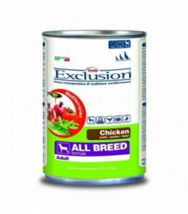 Exclusion Mediterraneo in scatola Adult All Breed con pollo gr.400
