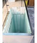 Acquario Artigianale Professionale 78x56x60h con supporto in legno bianco