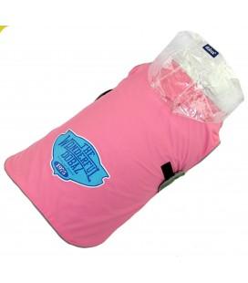 Dobez Cappottino Impermeabile con cappuccio trasparente taglia XXL rosa