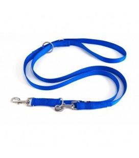 Velma guinzaglio addestramento doppio in naylon cm 200 diametro 2 cm blu