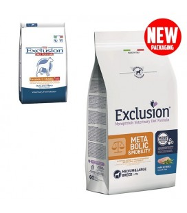 Exclusion Diet Metabolic & Mobility Medium/Large Breed con Maiale e Fibre 2 kg cani