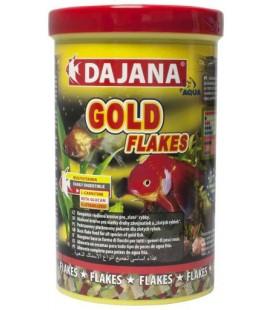 Dajana Gold Flakes - Mangime completo in fiocchi, per pesci velati e pesci rossi (1000 ml)