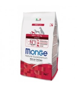Monge Natural Mini Senior Ricco di Pollo 3 kg