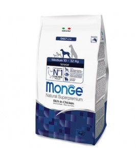 Monge Natural Superpremium Medium Senior Ricco di Pollo 12 kg