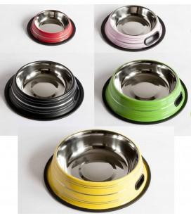 Velma ciotola in acciaio rigata diametro 14,5 colori assortiti