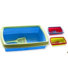 Velma toilette per gatti con cornice e paletta cm 47x32x11 colori assortiti