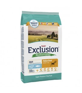 Exclusion Mediterraneo Adult Medium Breed Pesce 12.5 kg per cani
