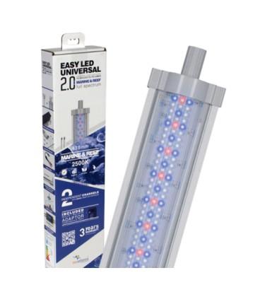 Aquatlantis easy led Universal 2.0 Marine e reef Plafoniera LED Attacchi T5 e T8 1047 mm - 52W - 25000k