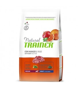 Trainer- Natural Adult Medium con Manzo e Riso 3 kg