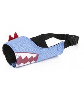 Ferribiella museruola naylon Happy Smile X-Large diam.2219-37 cm azzurra