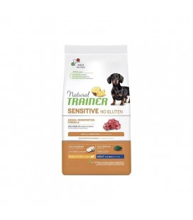 Natural trainer sensitive cane no gluten mini adult agnello 800 gr
