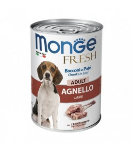 Monge fresh per cani in lattina 400 gr con agnello