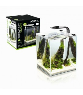 AQUAEL SHRIMP SET SMART 2 LED 10 WHITE CARIDINE PESCI PIANTE ACQUARIO COMPLETO