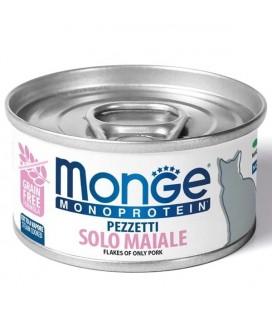 Monge cat Monoproteico Pezzetti Solo Maiale gr.80