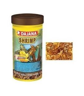 Dajana shrimps gamberetti essiccati per tartarughe acquatiche, pesci d'acquario e animali da terrario gr 150/1000ml