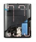 FERPLAST ACQUARIO DUBAI CORNER 90 BLACK / NERO CON SUPPORTO- 66 x 93 x h 130 cm