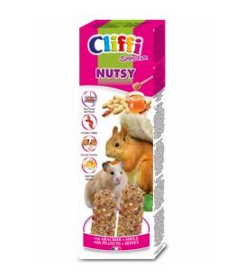 Cliffi sticks criceti e scoiattoli con arachidi e miele nutsy 110 gr