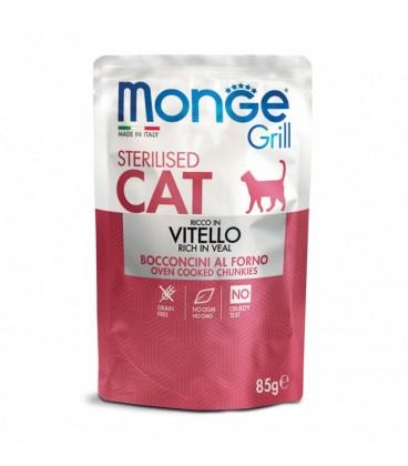 Monge gatto grill sterilizzato al vitello da 85 gr in busta