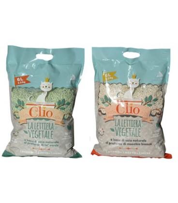 Velma lettiera Clio a base di soia, agglomerante al profumo di te' verde 2.5 6 litri