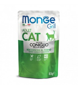 Monge Grill Adult Cat Bocconcini in Jelly Coniglio 100 gr.