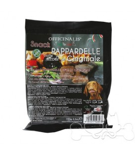 OFFICINALIS PAPPARDELLE AL CINGHIALE SNACK PER CANI gr 100