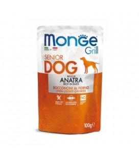 Monge Grill Cane Senior con Anatra Buste da 100 gr.