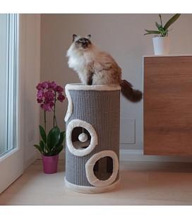 FERPLAST Tiragraffi a cilindro con cuccia per gatti