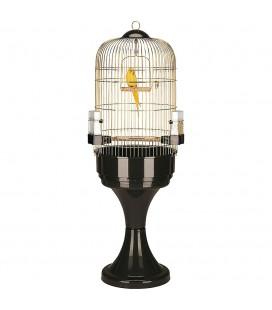 FERPLAST MAX 6 Gabbia rotonda per pappagalli, raffinata finitura anticata
