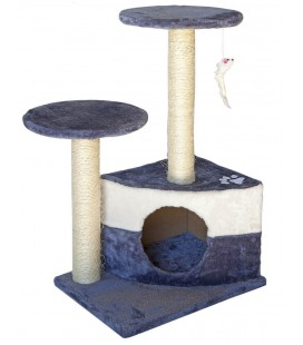 Velma tiragraffi fungo cm 33x44x65 h grigio/blue/bianco