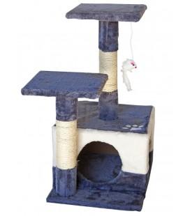 Velma tiragraffi casetta cm 44x33x65 h in /blue/bianco