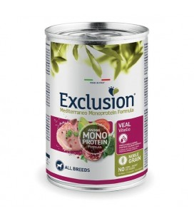 Exclusion Mediterraneo Monoprotein Adult All Breed con Vitello 400 gr