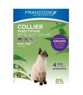 Francodex collare barriera naturale gatti sopra i 2 kg con olio di neem,citronella,e limone