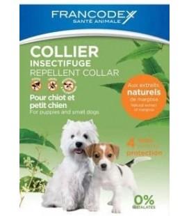 Francodex collare barriera naturale per cani fra i 10 kg e i 20 kg con olio di neem,citronella e limone