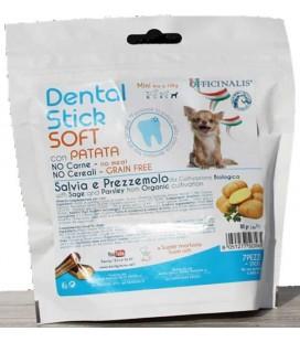 Officinalis snack cane dental stick soft grain free taglia mini con patata da 56 gr 7 pezzi