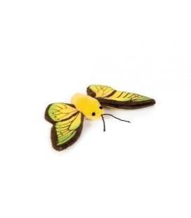 Beeztees Peluche Gatto Giocattolo Farfalla Winky Verde 11 cm