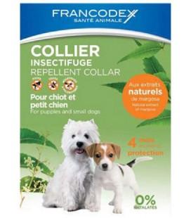 Francodex collare barriera naturale per cuccioli e cani piccoli inferiore ai 10 kg con olio di neem,citronella e limone