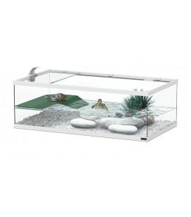 Aquatlantis Tortum 55 Tartarughiera accessoriata - 55x30x20h cm bianca