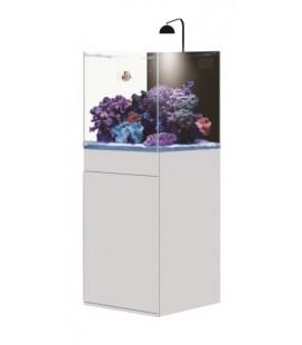 AQPet Kit Acquario Kubic 50 bianco con supporto in vetro extrachiaro compreso filtro sump