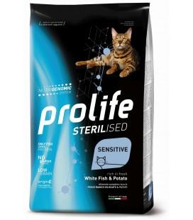 Prolife gatti sterilizzati adulti con Pesce bianco e patate gr.400 Promo