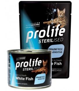 Prolife gatto adulto sterilizzato grain free al Pesce Bianco e Patate gr.85 in bustina