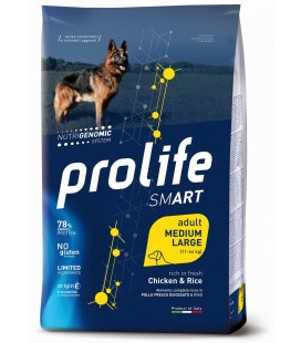 Prolife smart cane adulto medium/large con Pollo e Riso kg2.5 secco