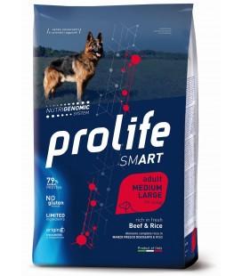 Prolife smart cane adulto medium/large con Manzo e Riso kg2.5 secco