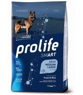 Prolife smart cane adulto medium/large con Trota e Riso kg 2.5 secco