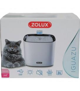 Zolux Fontana d'acqua silenziosa IGUAZU. 3 litri. per gatti e cani di piccola taglia. Porta USB.