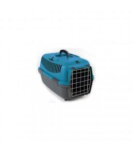 Petmax Nomade 1 Lux trasportino cm 48x32x32 colore grigio /turchese
