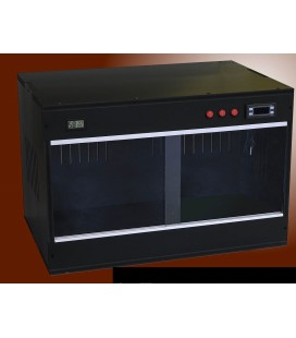Velma terrario in pvc con termostato e portalampade cm 60x40x40xh