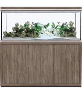 AQUATLANTIS ACQUARIO FUSION PRO 150x50x70h OLIVA SATINATO CON SUPPORTO 19MM (NUOVO MODELLO)